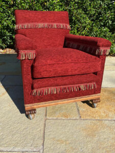 A very old Knoll chair, recovered and reupholstered, keeping the original design