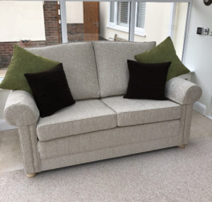 Derwent settee recovered in chenille